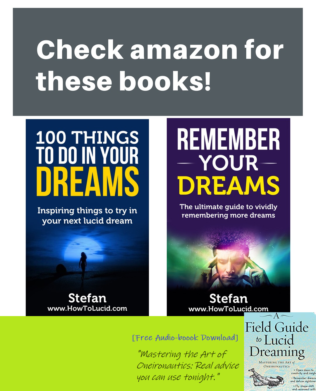 I Have Published Lots Of Books About Lucid Dreaming Over The Years