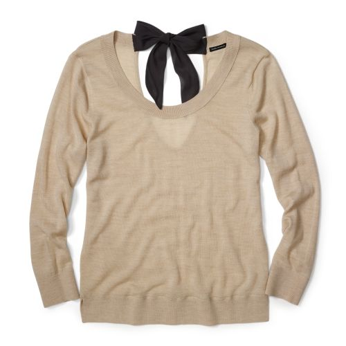 bow slouchy sweater
