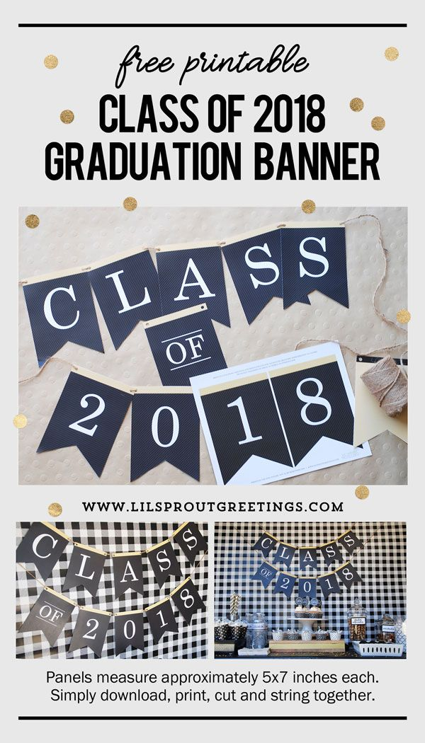2018 graduation banner free printable from lil sprout greetings