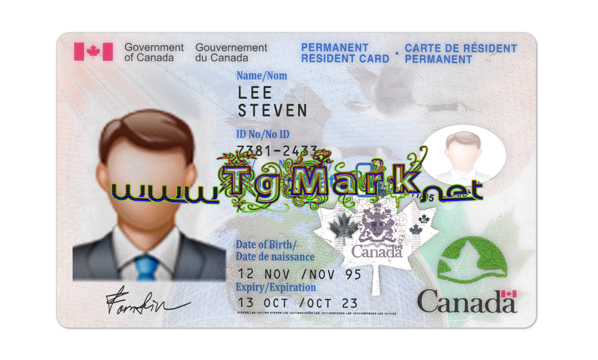 Canada Id Card Template Psd Psd Adobe Photoshop Full Version Mac Win No Date And No Number Limit In Download Id Card Template Card Template Cards
