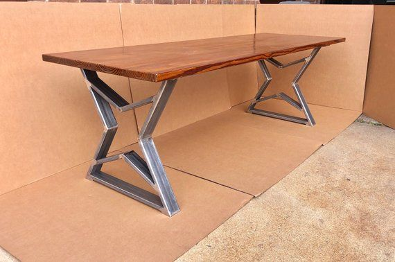 The Stars Design Dining Table Legs Industrial Steel Legs Etsy Dining Table Bases Dining Table Legs Metal Table Legs