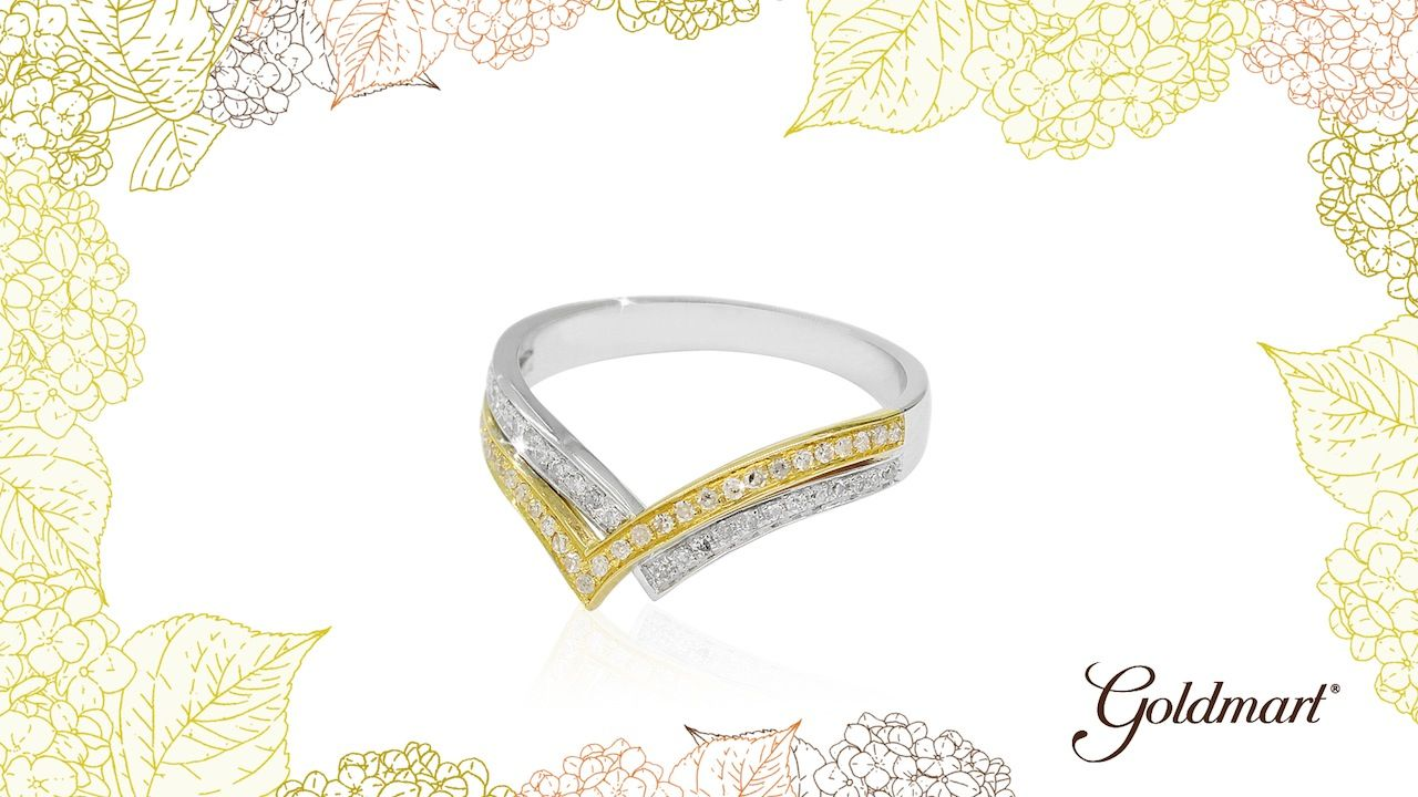 White and Yellow Gold Ring Goldmart Jewelry Pinterest Yellow