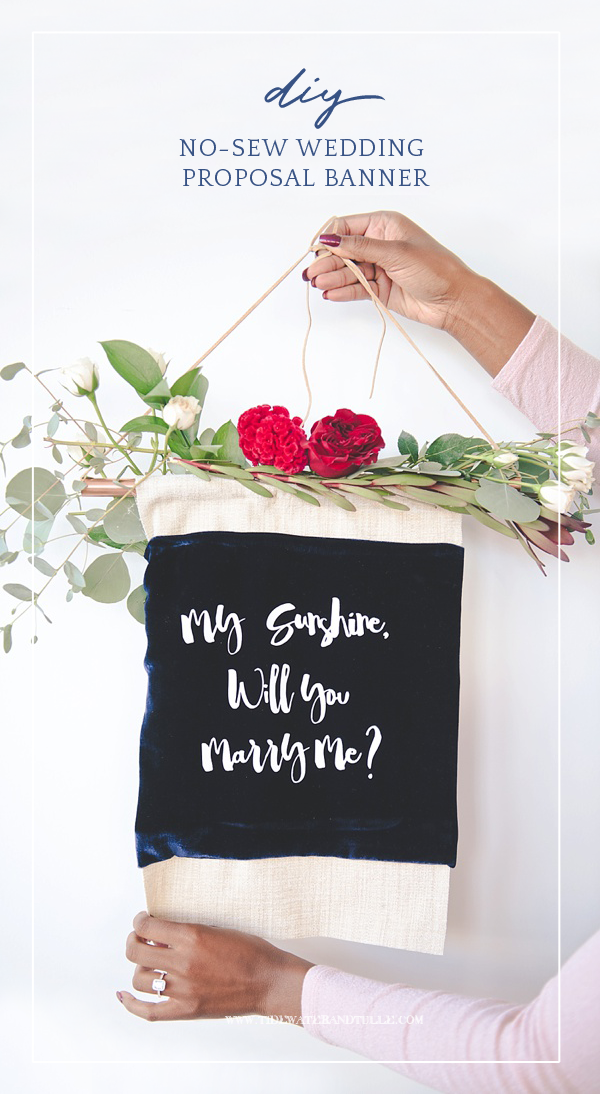 Diy Marriage Proposal Banner With Cricut Wedding Proposals Cricut