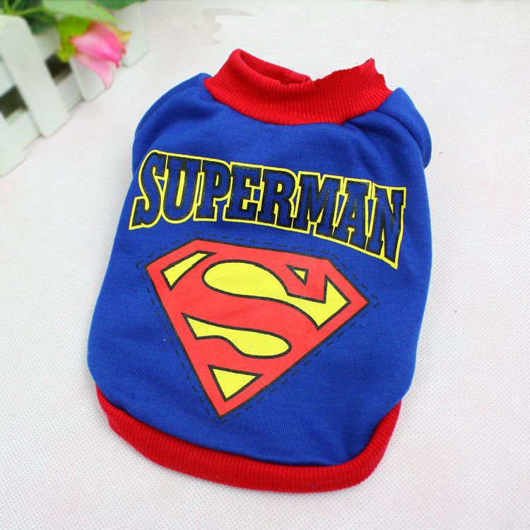 Pet Cat Dog Clothes Superman Costume Puppy Apparel T Shirt for Small Dogs Blue  sc 1 st  Pinterest & Pet Cat Dog Clothes Superman Costume Puppy Apparel T Shirt for Small ...