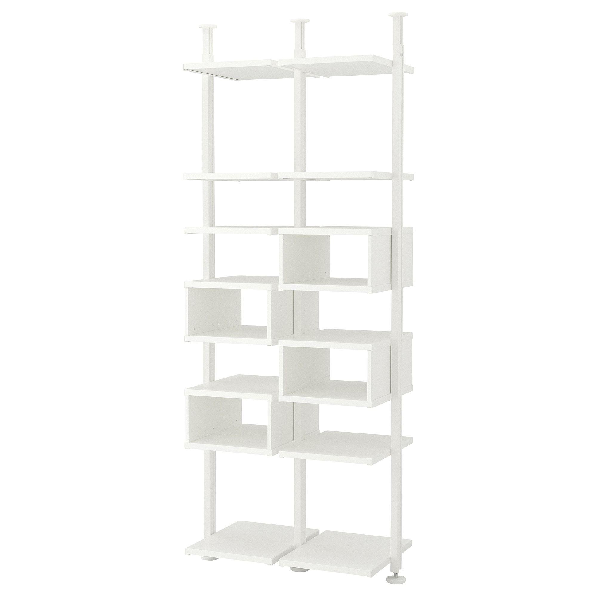 Ikea  Elvarli 2 Section Shelving Unit White