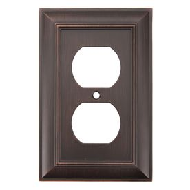 Allen And Roth Wall Plates Fair 697  4 Allen  Roth 1Gang Oilrubbed Bronze Standard Duplex Decorating Inspiration