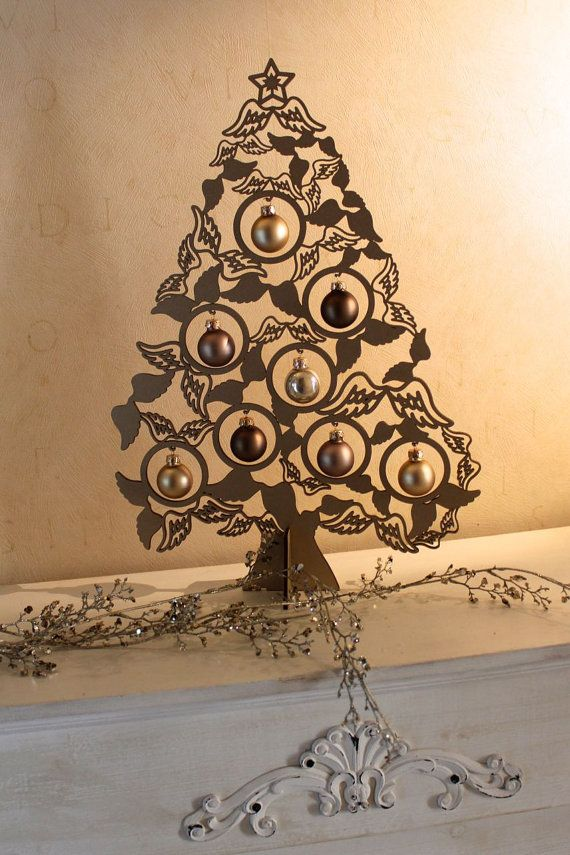 Christmas Decoration Curltree 40cm Angelwings Natal Olx Mdf