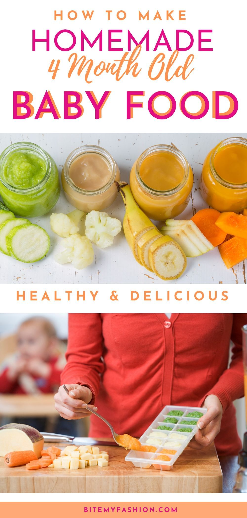 Homemade Baby Foods for 4 Month Old Baby   Easy baby food ...