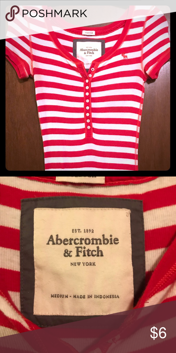 168562cca5c4c Abercrombie & Fitch Button Up Tee Great shirt! Cute with jeans or leggings!  Size
