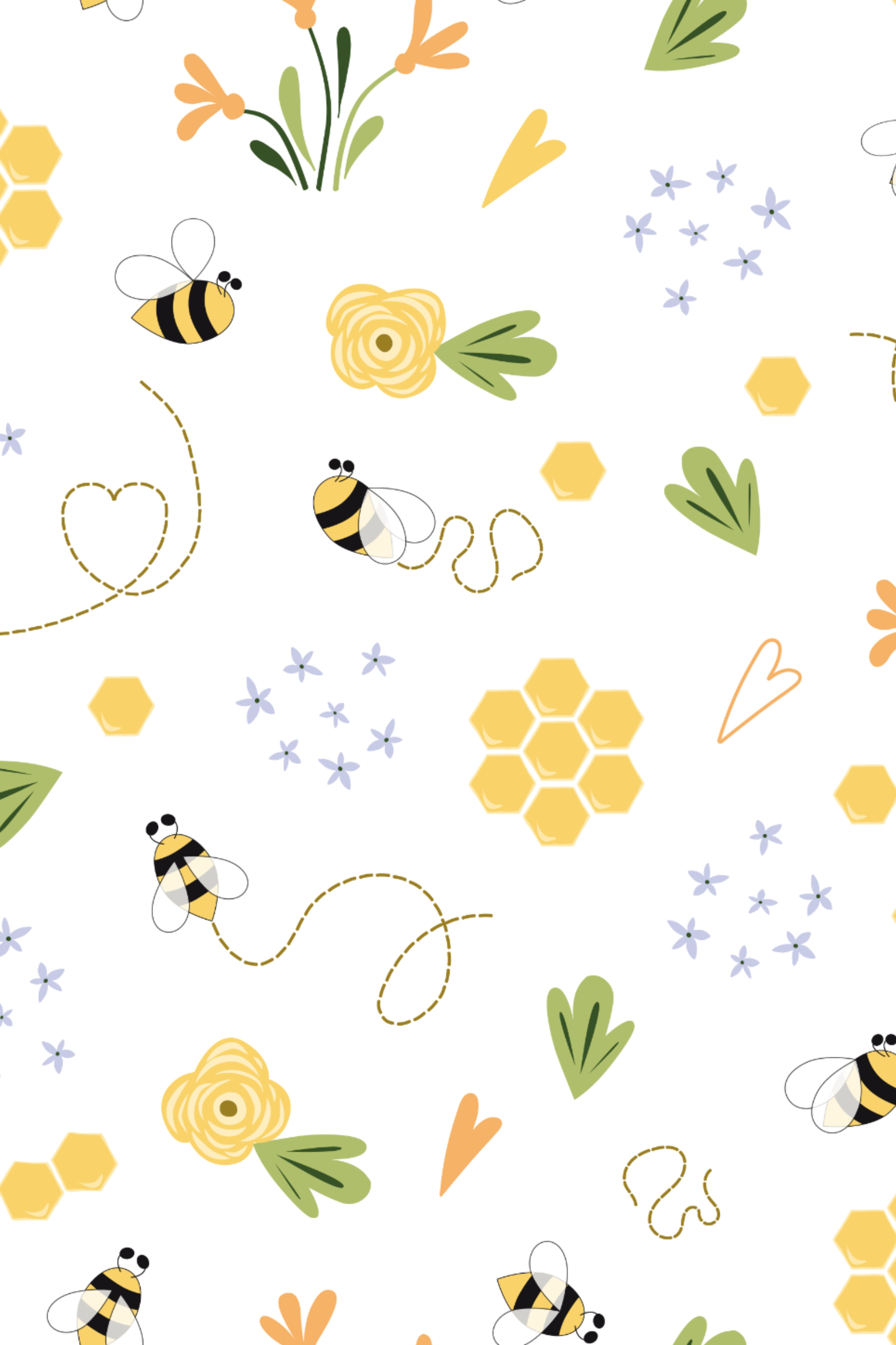 10 Honey Bee Patterns Cute Bee Pretty Wallpapers Iphone Background Wallpaper Pattern Wallpaper