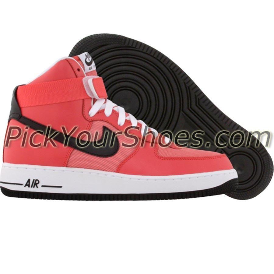 on sale 504e1 9354b Nike Womens Air Force 1 High (solar red  black  white) 334031-601 - 84.99