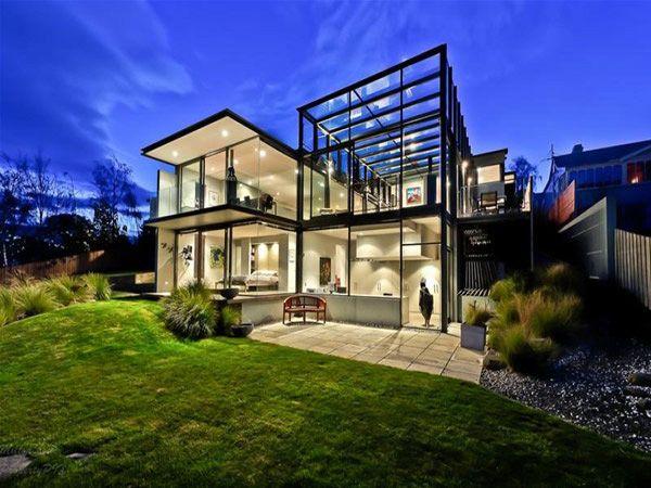 Panorama House Design Glass Walls Modern Interiors Modern Glass House Architecture House Glass House