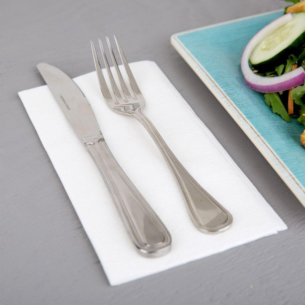 Choice White Linen Feel 1 8 Fold Dinner Napkin 50 Pack In 2020 Dinner Napkins Wedding Food Drink Linen Feel