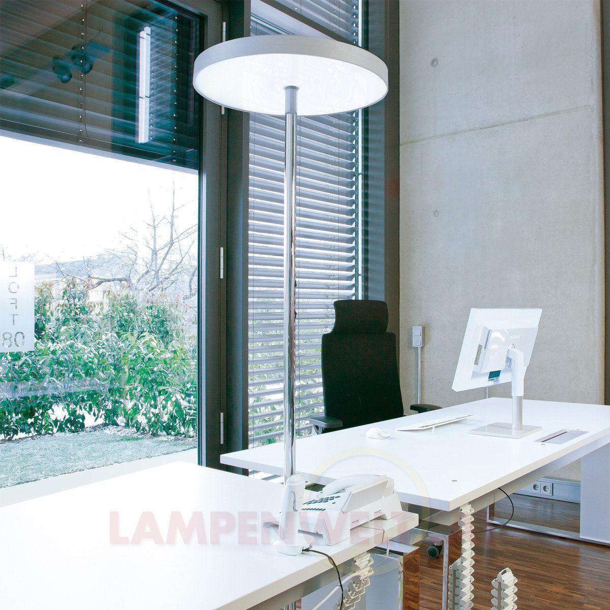 Beleuchtung Im Buro Auf Die Futuristische Art Diese Stehleuchte Gibt 9 100 Lumen Lichtstrom Ab Und Sagt Damit Kopfschmerzen Licht Und Architektur Lampen Und Leuchten Und Burobeleuchtung