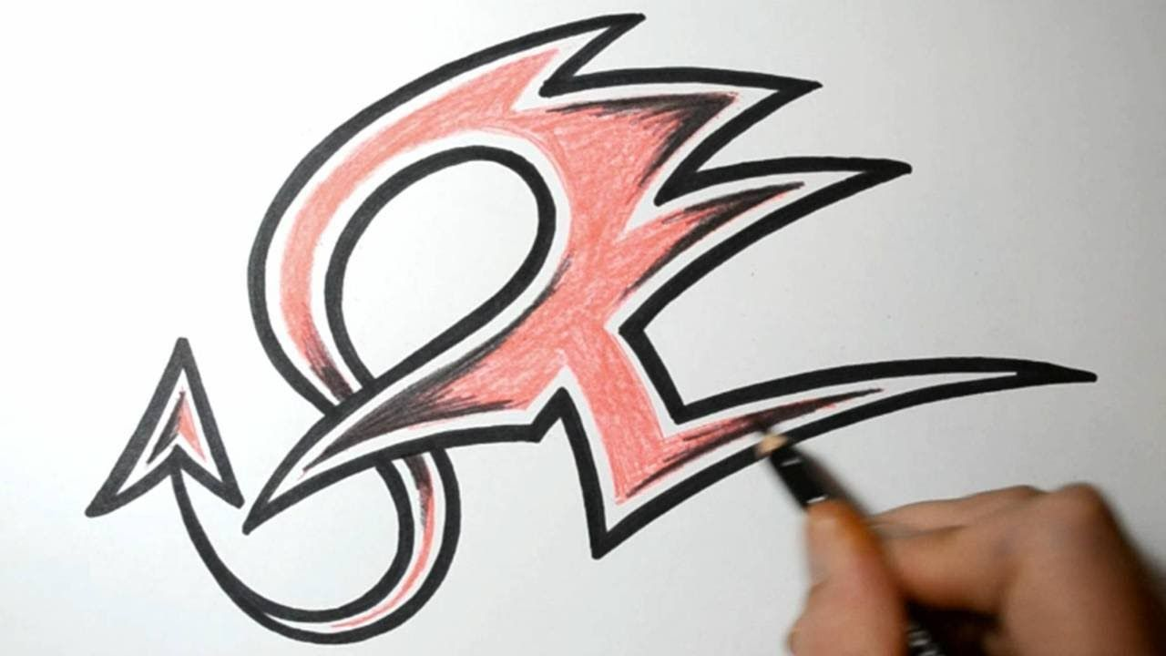 How to draw graffiti letters z