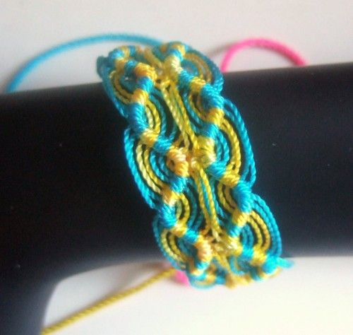Woven Friendship Bracelet Peruvian Double Zigzag Turquoise And Magnificent Double Wave Friendship Bracelet Pattern