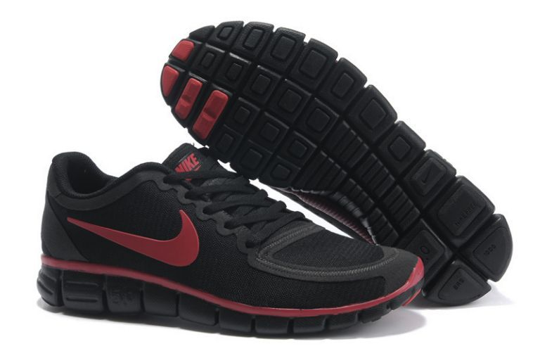 newest collection acc43 45c66 O881w Nike Free 5.0 V4 Herren Schuh Schwarz   Team Rot