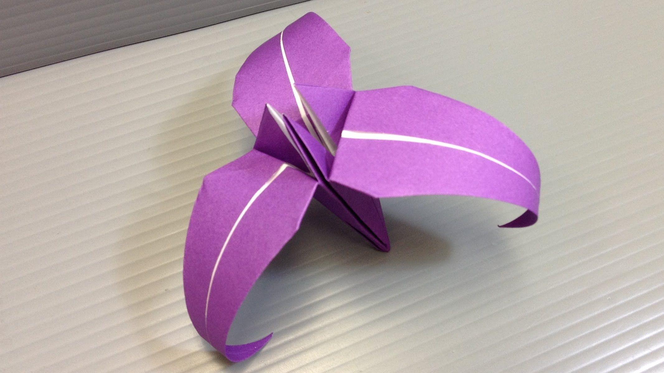 Iris From Triangle Traditional Origami Three Petal Iris Flower