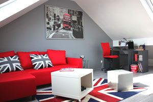 Chambre London ado | Interior: Bedroom | Deco chambre ados, Deco ...