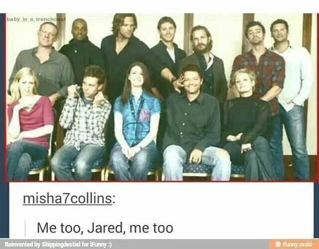 yes ^_^ <3 #Supernatural funny    Jared Padalecki    Misha Collins #SPN cast #Convention