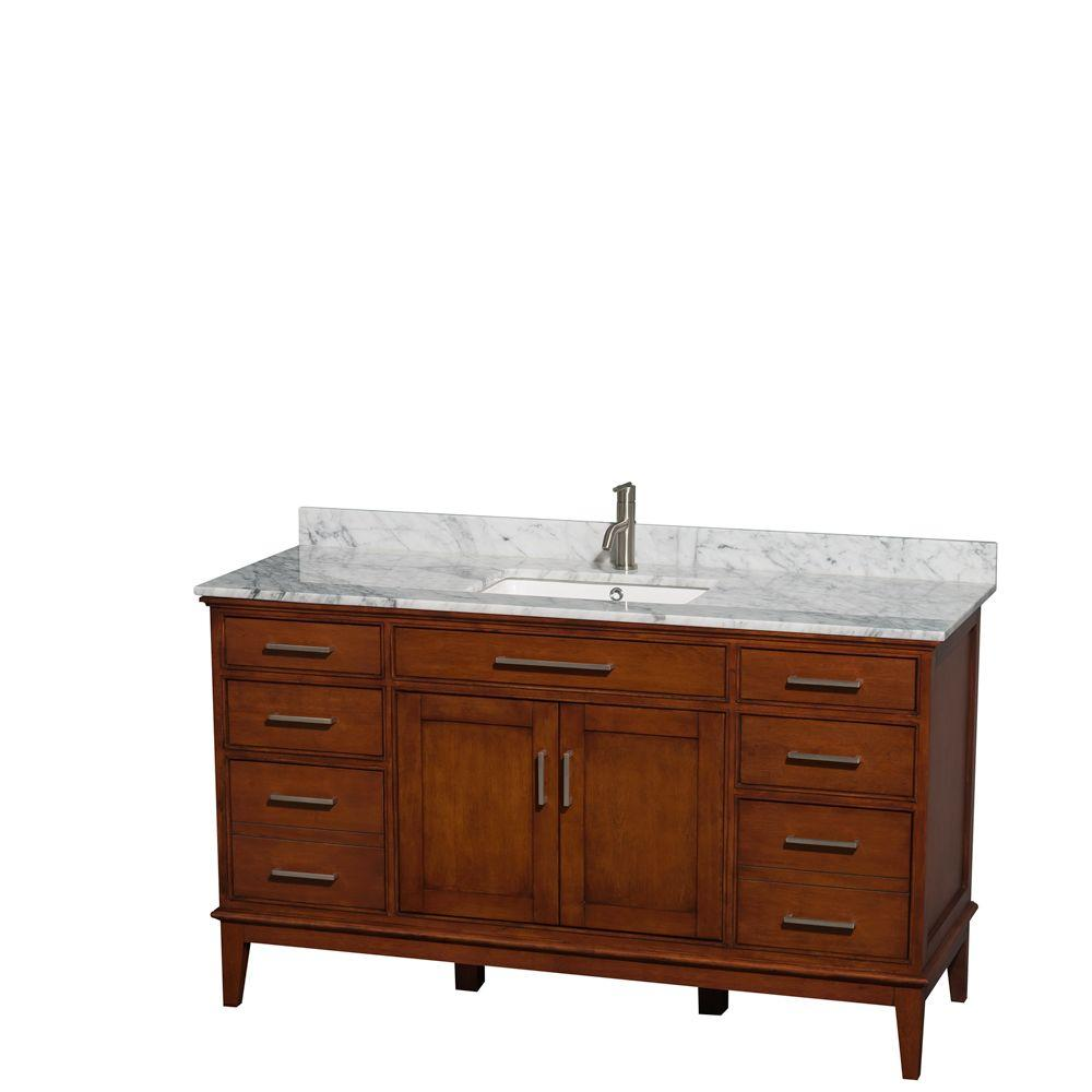 Wyndham Collection Hatton 60 In Vanity In Light Chestnut with