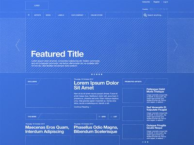 Blueprint wireframe wireframe ui ux and web layout blueprint wireframe malvernweather Choice Image