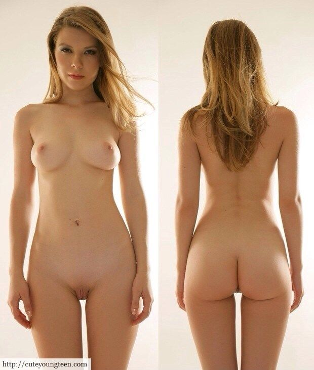 Frontal Nude And Back Nude Blonde Naked Teen  Gift -2626