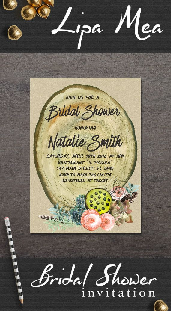Rustic Bridal Shower Invitation, Fall Bridal Shower Invitation, Printable Bridal Shower Invitation, Boho Floral Bridal Shower Invitation. Autumn Bridal Shower Ideas. For more bohemian and country inspired bridal party invitations, follow the link: lipamea.etsy.com