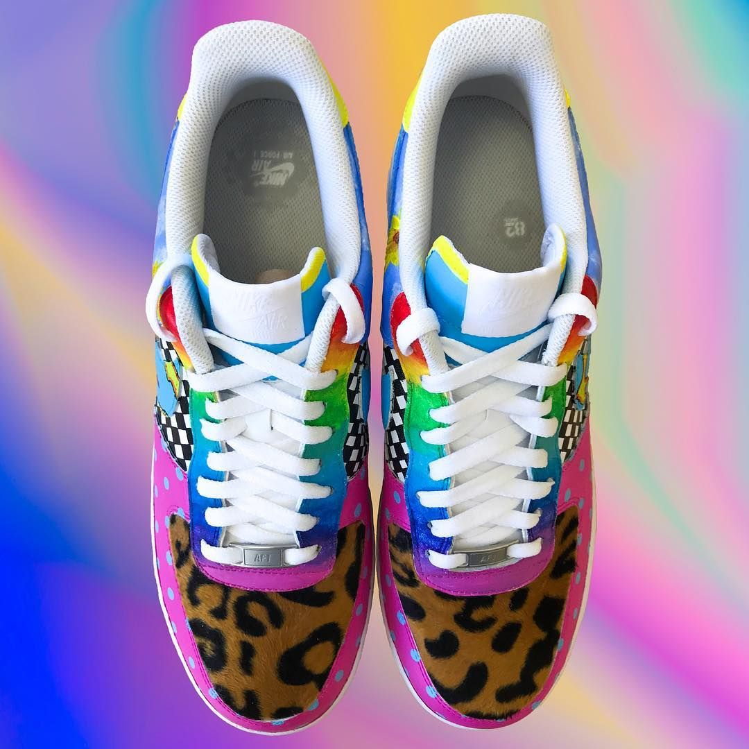Golf Wang X Af1 Size Us12 500 Hand Painted By Brianscustoms With Over Golf Wang Sneaker Head Sneakers