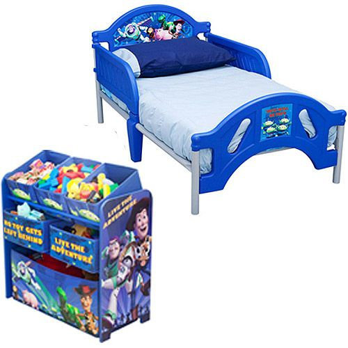 Disney Toy Story Toddler Bed And Multi Bin Organizer Bundle