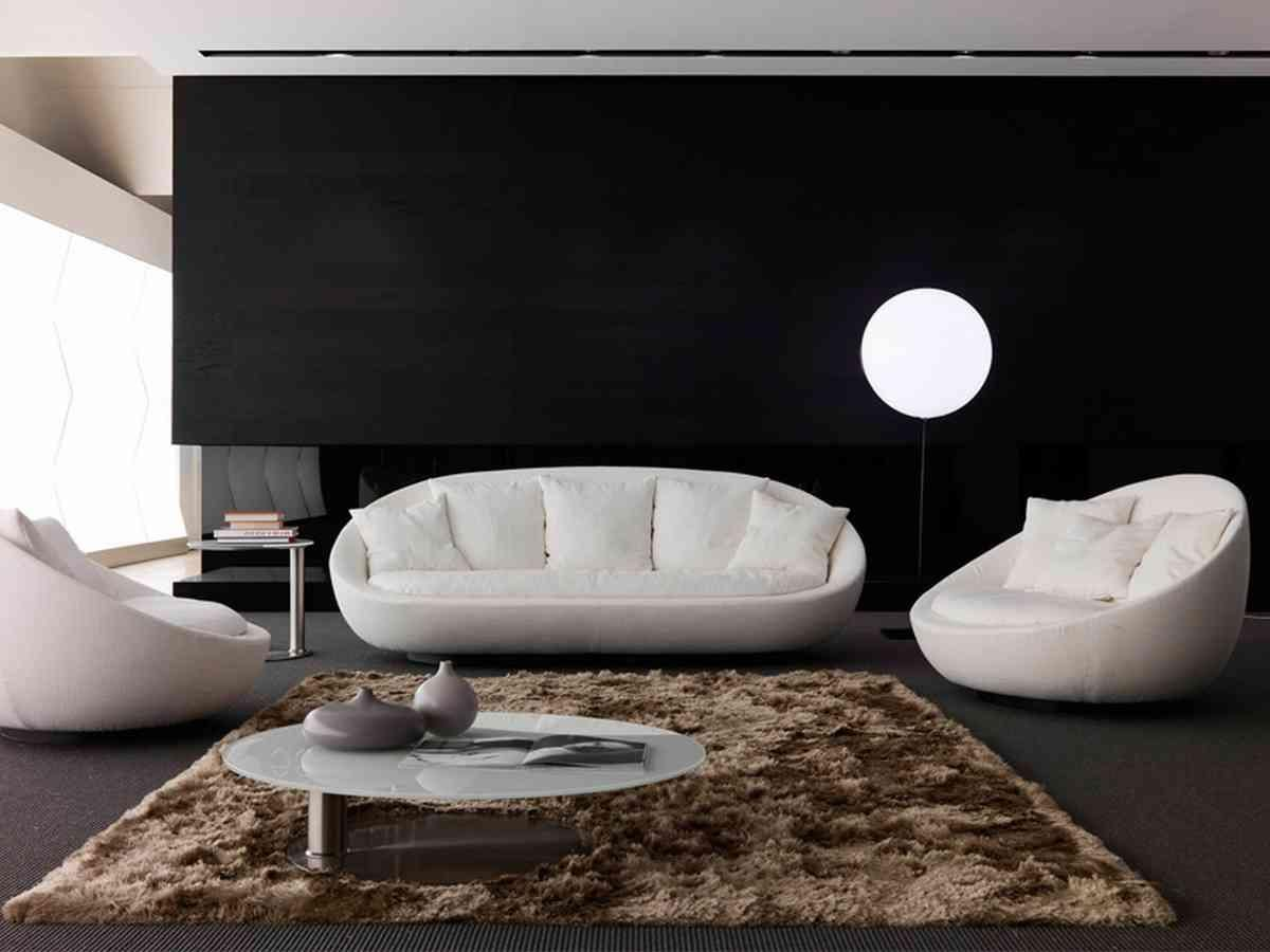 Classy Sofa Set In Modern Living Room With Lamp Standing On Flor Beside Sofa  Including Brown Fur Rug Under White Round Table Sofa Set Ideas For  Beautiful ...