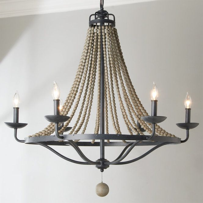 Photo of French Country Driftwood Chandelier – 6 Light