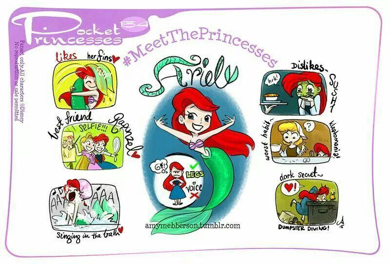 Pocket Princesses - Meet the Princesses - Ariel by Amy Mebberson