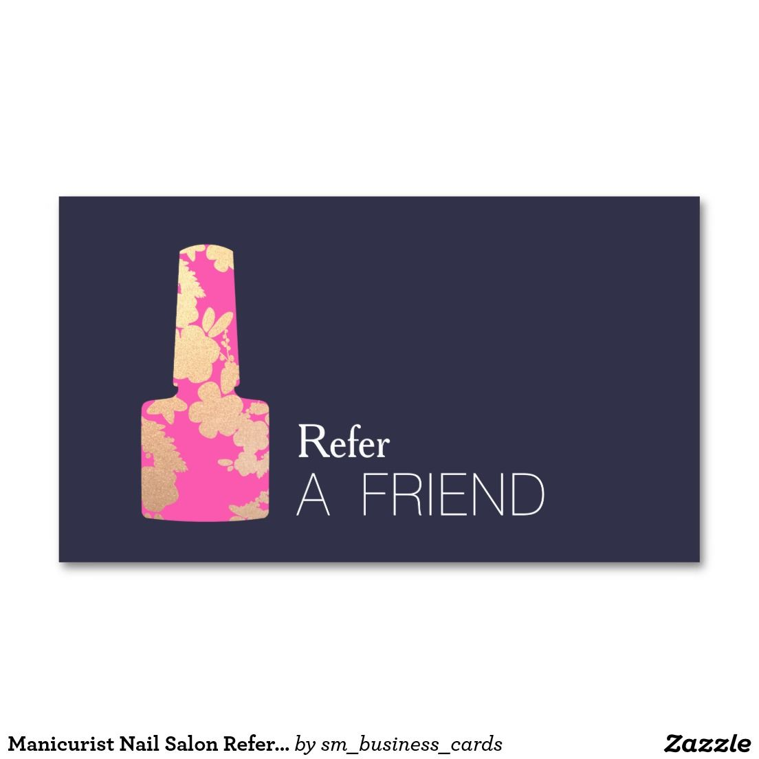 Manicurist nail salon refer a friend double sided standard manicurist nail salon refer a friend double sided standard business cards pack of 100 magicingreecefo Image collections