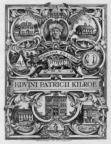 [Bookplate of Edvini Patrich Kilroe] by Pratt Libraries, via Flickr