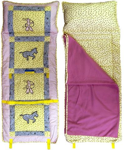 Cowgirl Nap-N-Go Sleeping Bag - perfect for on the go or daycare!