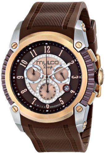 MULCO Unisex MW1-21160-033 Analog Display Swiss Quartz Brown Watch
