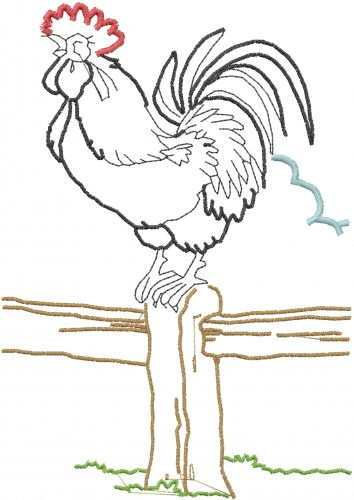Free Rooster Outline Embroidery Design Annthegran Free