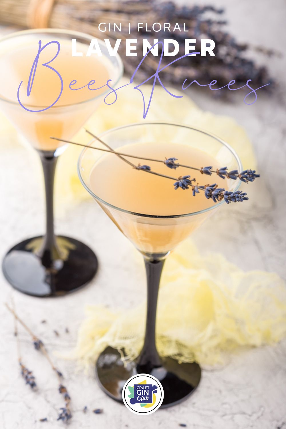 Create A Buzz This Gin O Clock With A Lavender Bee S Knees Craft Gin Club The Uk S No 1 Gin Club Recipe Gin Cocktails Gin Gin Cocktail Recipes