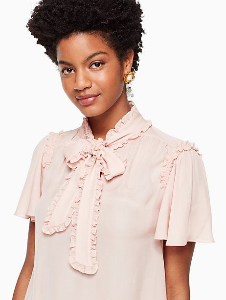 d864895e Kate Spade Nadeen Top, Cameo Pink - Size XXS | Products | Tops, Kate ...