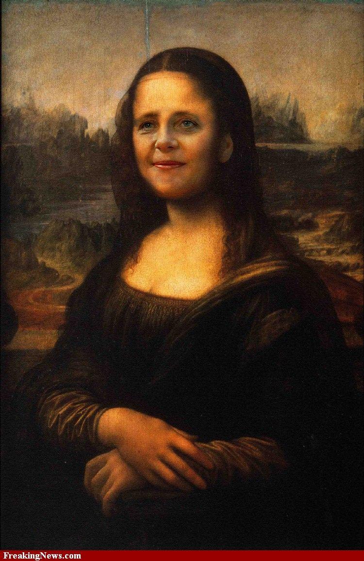 MONA LISA......ANGELA MERKEL......BY FREAKINGNEWS.........   Mona ...
