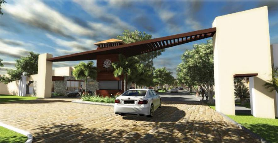 Servicios portico de acceso 24 santa cruz privada conkal for Accesos arquitectura