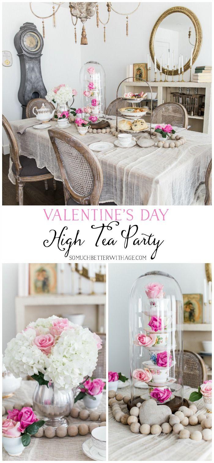 Valentine\'s Day High Tea Party   High tea, Tea parties and Teas