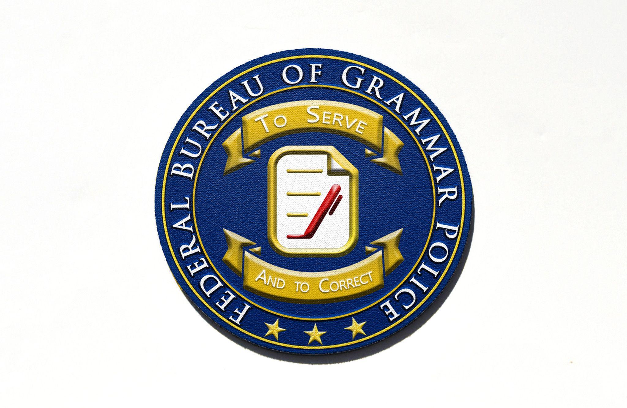 Round Grammar Police Mouse Pad Grammar Police Words For Writers Grammar Nerd