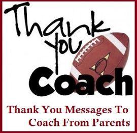 Appreciation Messages  Coach  Appreciation Messages Notes