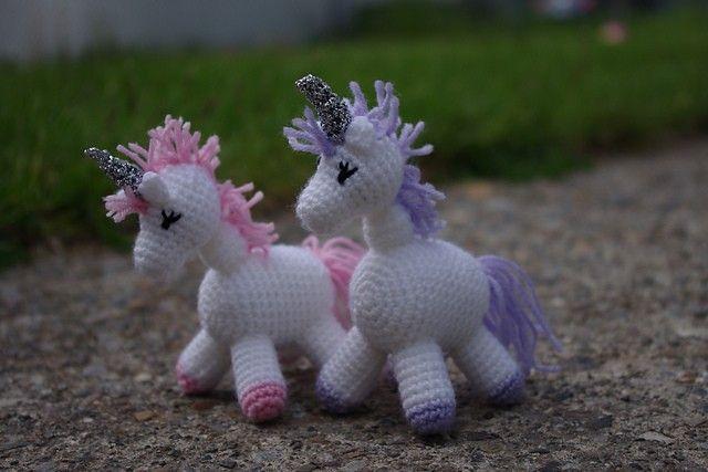 [Free Pattern] Charlie Is A Darling Little Unicorn! - Knit And Crochet Daily #littleunicorn