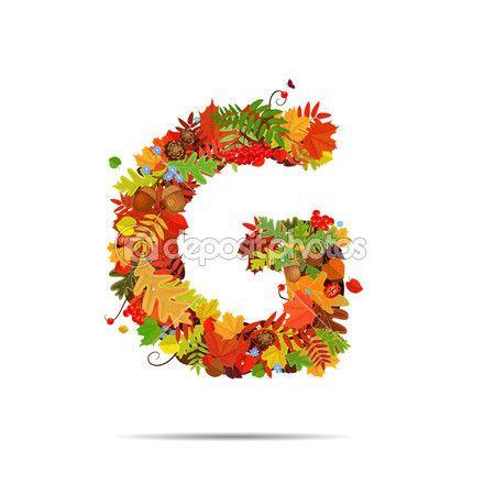 Otoño hojas. Letra G — Vector de stock #38281033   El Alfabeto con ...
