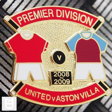 UNITED v VILLA PL Match Badge 200809 RR The unit, Badge