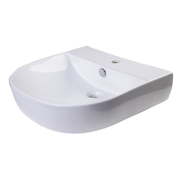 D Bowl Metal 20 Quot Wall Mount Bathroom Sink With Overflow