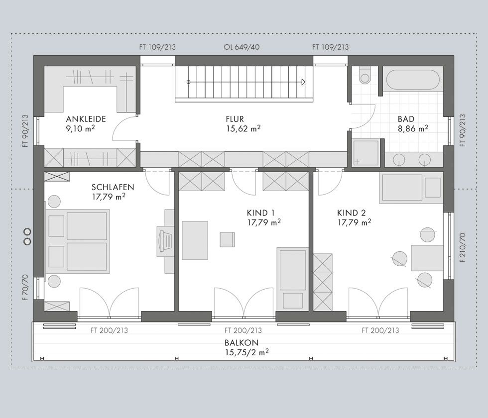 Architektenhaus toskana hausdaten beilharz haus for Architektenhaus grundriss